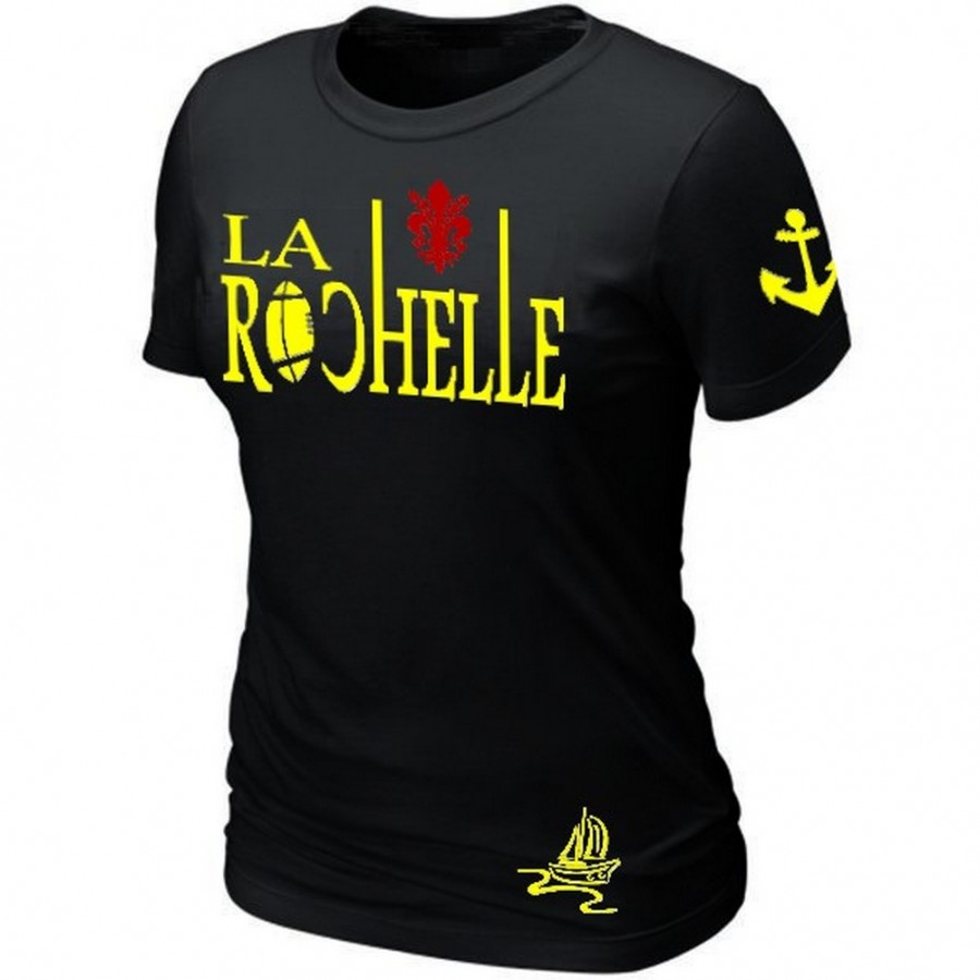 M Femme Supporter Rochelle Rugby La Taille T Shirt Pk8Xwn0O