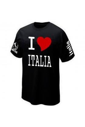 T SHIRT I LOVE ITALIA