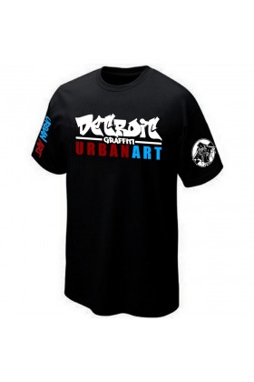 T-SHIRT STREET-ART GRAFFITI URBAN-ART GRAFF PK29 DETROIT