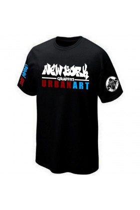 T-SHIRT STREET-ART GRAFFITI URBAN-ART GRAFF PK29 NEW-YORK