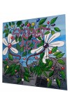 TOILE STREET-ART FORET NATURE FLEURS